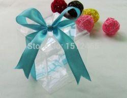 pas cher, Achetez directement de China Suppliers: Pvc transparent bomboniere mariage boîtes/bonbonnières de mariage cadeau de noël boîtes 7*7*7cmde mesure: 7*7*7cmMatériel:pvc transparentquantité: 100 pcs boîtes en