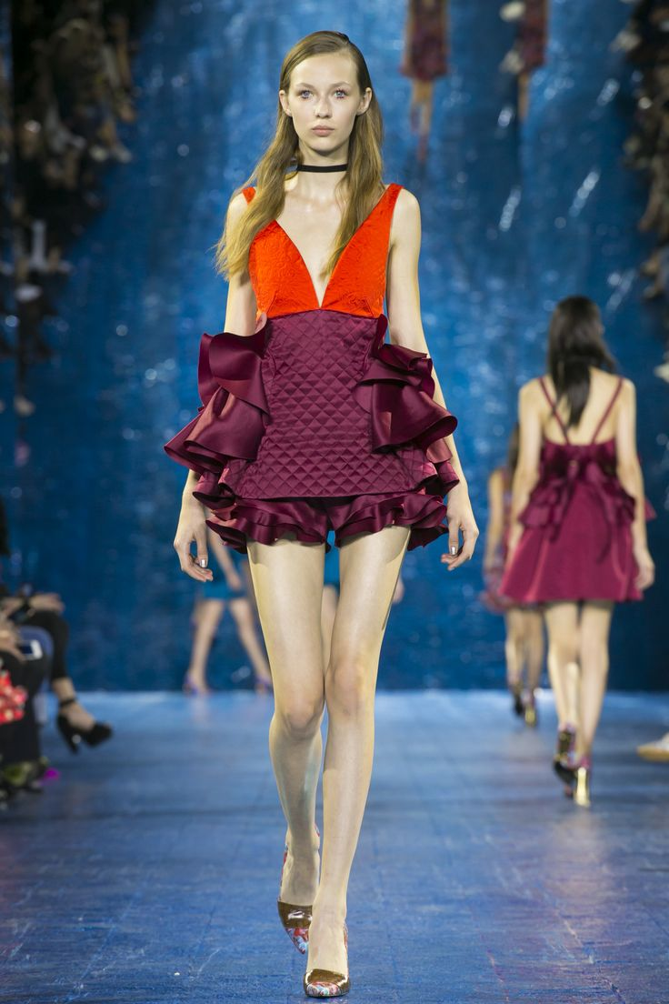Look 23. Mira Top & Ruffle Bloomers Burgandy