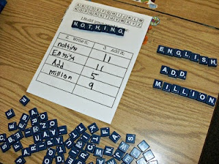 3rd Grade Thoughts: Word Work: Scrabble Tile Spelling