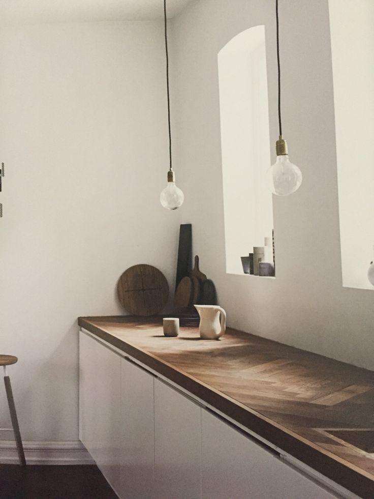 home kitchen I küche weiß holz