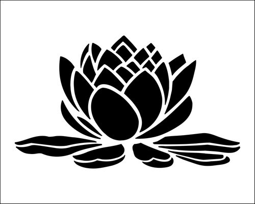 Waterlily stencil from The Stencil Library BUDGET STENCILS range. Buy stencils online. Stencil code SS9.