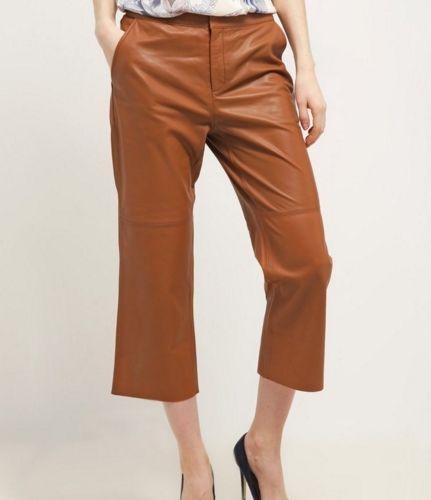 Part Two CRITTA Spodnie skórzane brown