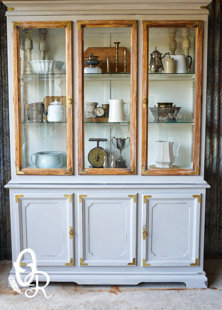 grey china cabinet wood doors and the grey on 16083