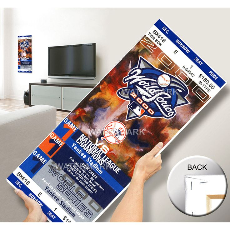 2000 World Series Mega Ticket- New York Yankees - $63.99