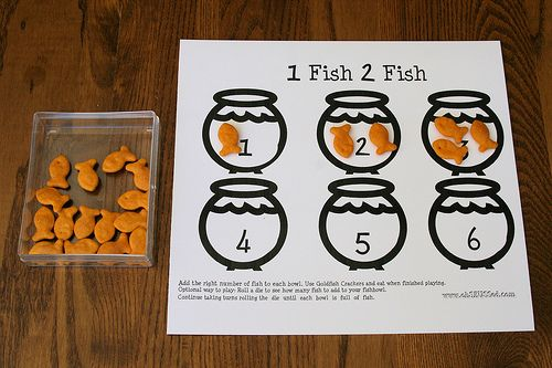 One fish Two Fish - one to one correspondence, counting game for early math