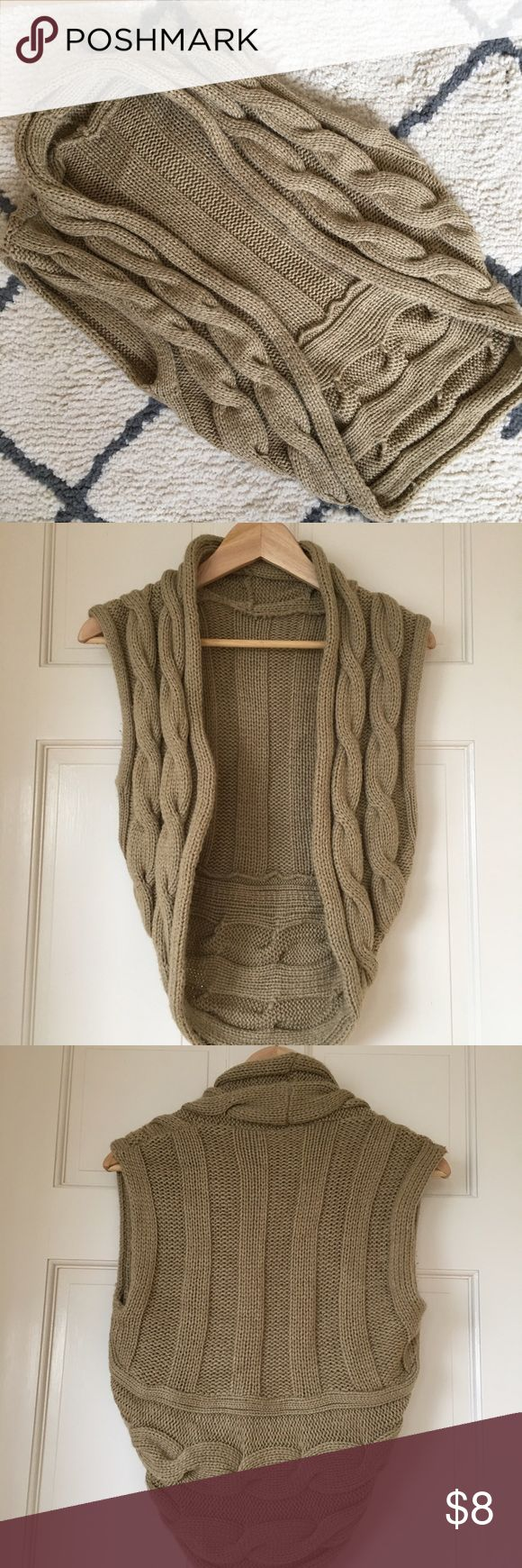 Cropped Cable Knit Camel Vest Sz Small Never worn, in pristine condition. Purchased from Target, original owner, non-smoking home. No snags or pilling. Tops