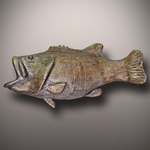 Handmade Ceramic Bass Fish Cremation Urn - Wall Mounted - Urns Northwest. Discreet memorial urn shaped like a bass fish, to honor an angler fisherman.
