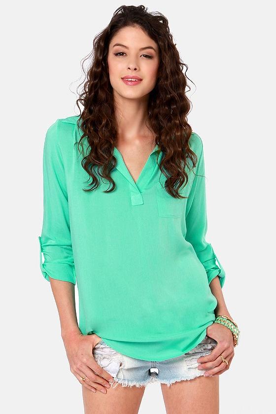Wishing Well Mint Green Tunic Top | Mint green, For women ...