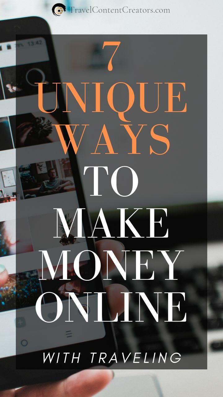 These 7 unique Ways to Make Money Online you can use while Traveling! These are …