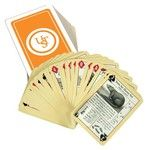 The Ultimate Survival Tech Waterproof Survival Playing Cards feature waterproof construction and survival tips.