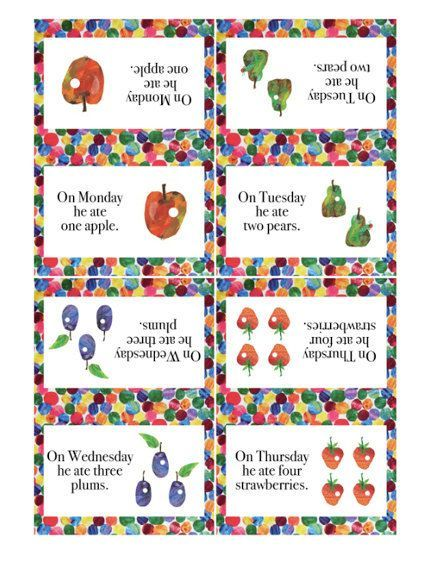 Very Hungry Caterpillar Printables Very Hungry