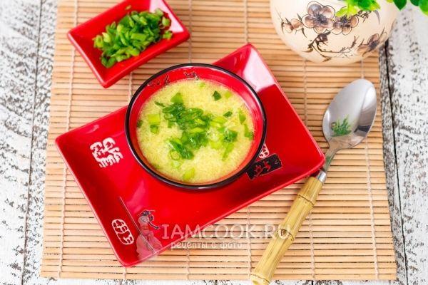 Фото китайского яичного супа «Даньхуатан»