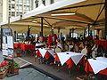Caffè Giubbe Rosse is a café in Piazza della Repubblica, Florence