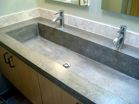 Concrete Trough Sink : Concrete Trough Sink Things for building a new house Pinterest