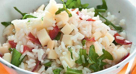 #Recette de #salade de #riz aux saveurs italiennes