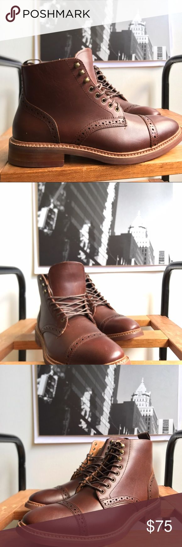 🙌🏾Brand New Aldo Boots #0195AO Brand new Aldo brown genuine leather lace up oxford style boot. Notice the detail around the toe area and sides. Pull tab on the back of boot to assist with putting on boots. NO TRADES. NO LOWBALL OFFERS, Thank you! #boot #aldo #men #mensstyle #style #streetwear #boot #size7.5 #size37.5 #oxford #fallfashion #winterfashion #winter #fall #aldoboot Aldo Shoes Boots
