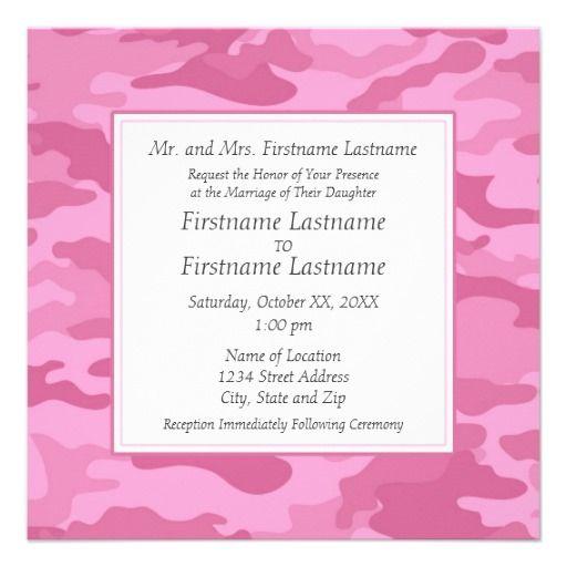 Camo Military Wedding Invitation