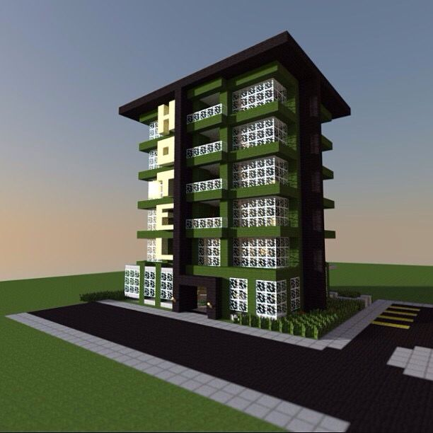 Minecraft city hotel mincraft city pinterest for Hotel building design