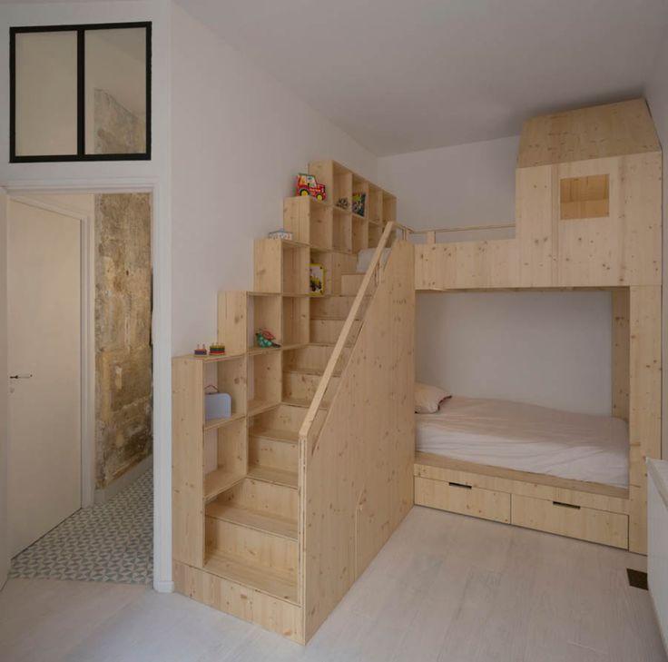 Les 25 meilleures id es de la cat gorie architecte paris for Chambre bebe petit espace