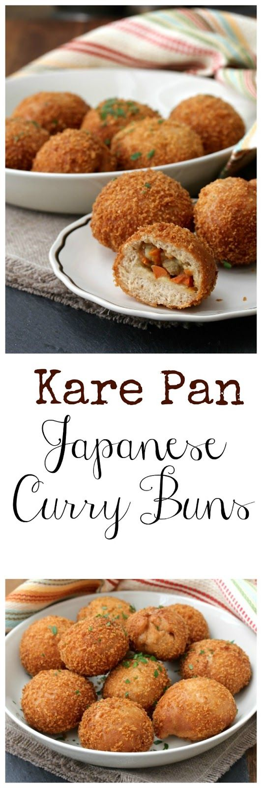 These Kare Pan, or Curry Buns, consist of Japanese curry wrapped in yeasted bread dough, coated with panko, and then deep fried.