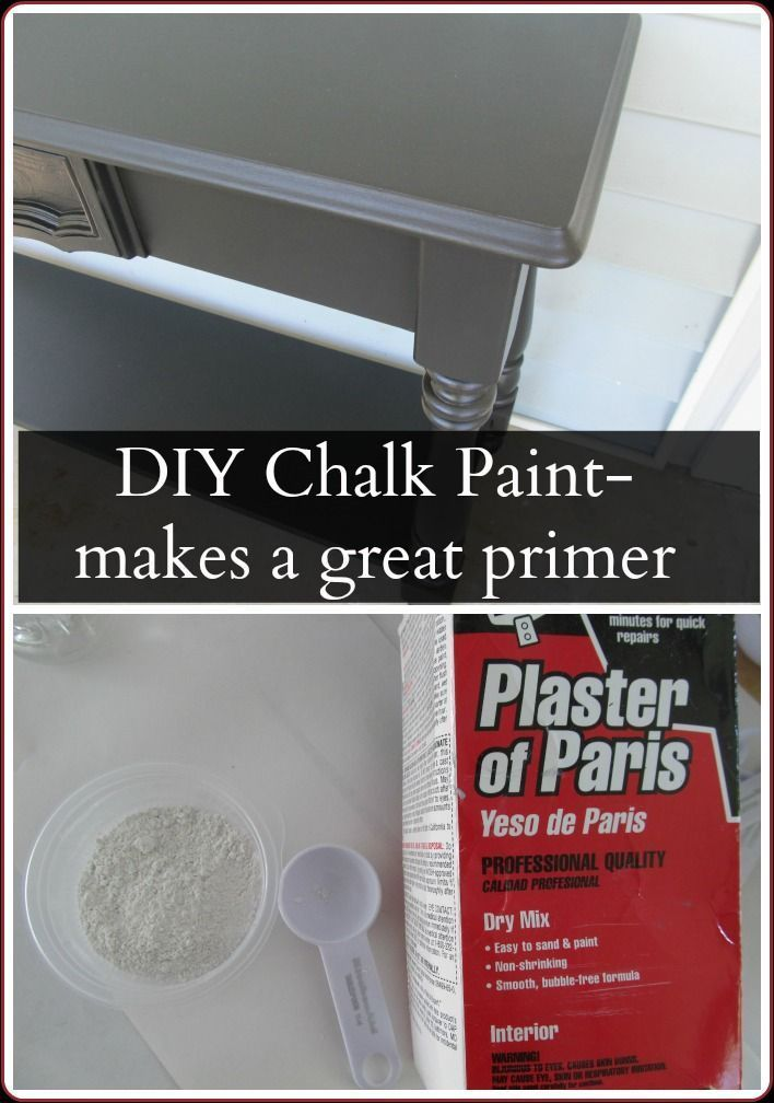 mix your own chalky paint to use as a primer.  Black primer under black paint, RED primer under red paint.... so clever