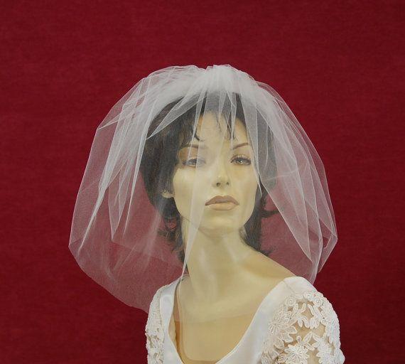 Bubble Veil Blusher Veil 2 Tier Bridal Veil by AnnMarieBridalVeils, $34.00