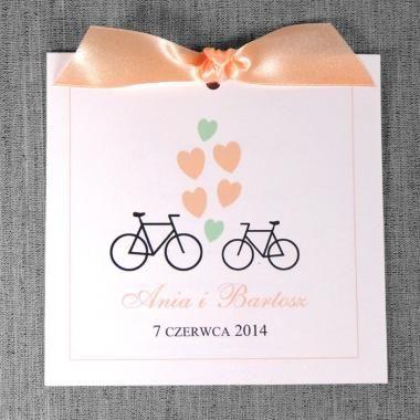 zaproszenia ślubne - Zaproszenia z rowerami