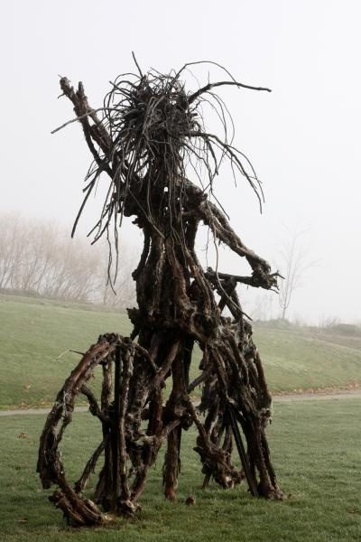 Lola - resident witch at Chard Farm winery, Central Otago, NZ. Pic from Chard Farm website.