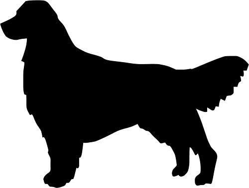 Golden Retriever Decal Golden Retriever Silhouette Dog Silhouette