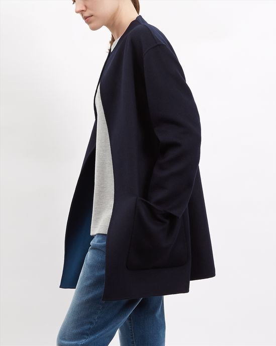 Wool Reversible Duster Coat - null - Zoom Model Image