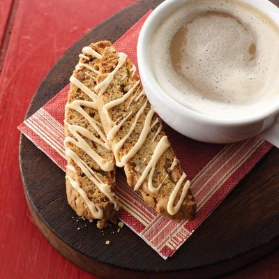 Caramel Apple Biscotti Recipe from Land O'Lakes