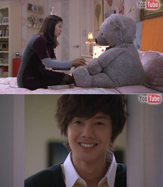 Oh Ha Ni intentado inyectar al osito :3 Y Jeung Jo mirándola tiernamente