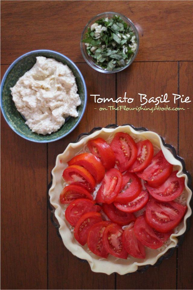 Tomato Basil Pie @ The Flourishing Abode