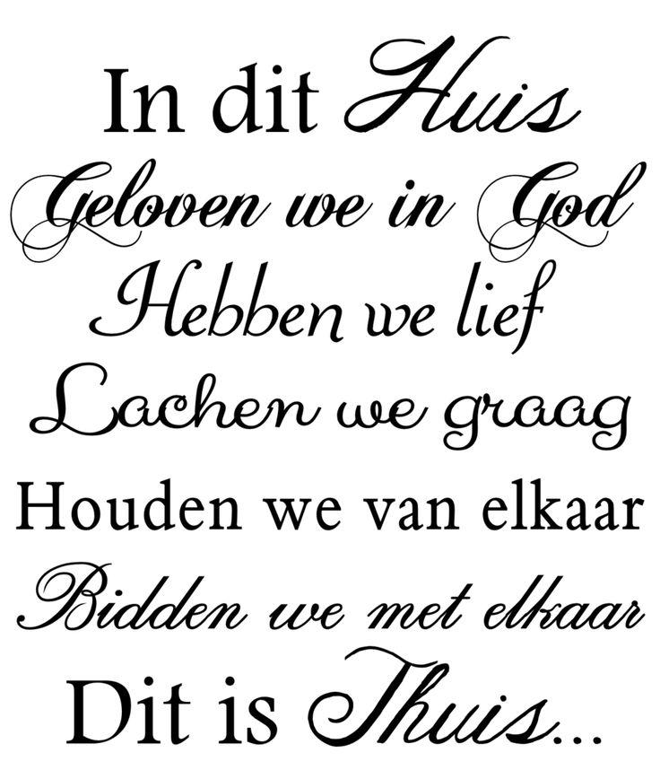 in dit huis  #teksten #citaten #godsdienst