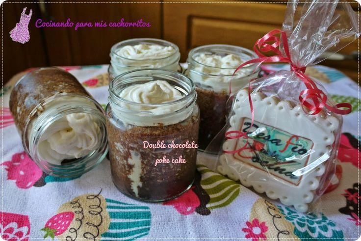 Double chocolate poke cake (microondas)