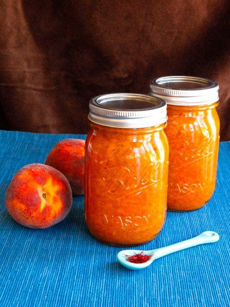 Peach Saffron Preserves - Summer Recipe for Seasonal Peach Jam with an Exotic Twist by Tori Avey