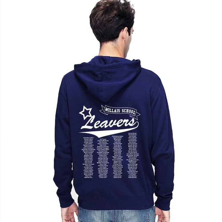 Our leavers hoodie collection is one of the most diverse collections you will ever find. The leaver hoodie designs we offer include the school name aligned in a stylish fashion, custom nick names printed etc. We offer both printing and embroidery options in the personalised leavers hoodie collection. We have been providing the services for more than 30 years and assure you high quality and timeliness for your order.