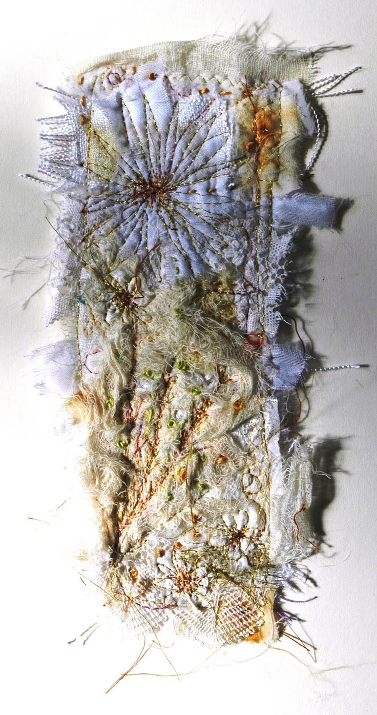 The texture on this fabric manipulation technique is amazing and the pattern and also the frayed edges think well with flotsam and jetsam