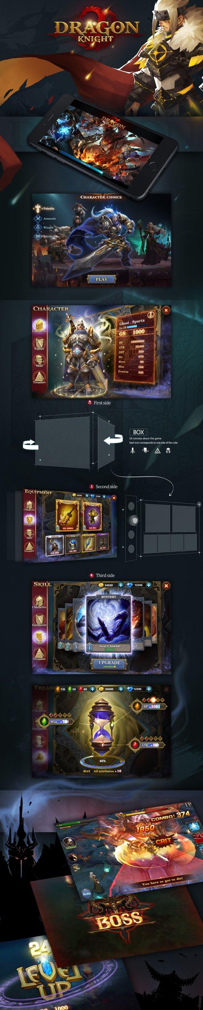 Dragon knight | Games UI | G ...