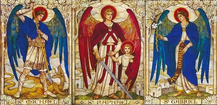 Resultado de imagem para saint michael, saint gabriel, saint raphael