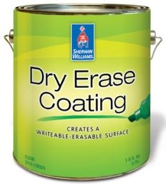 Sherwin Williams Dry Erase paint-Could be neat to be a whole wall...