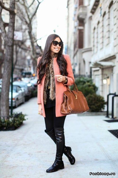 Яркое пальто на ранюю весну (90 фото)! / с чем носить красное пальто красиво