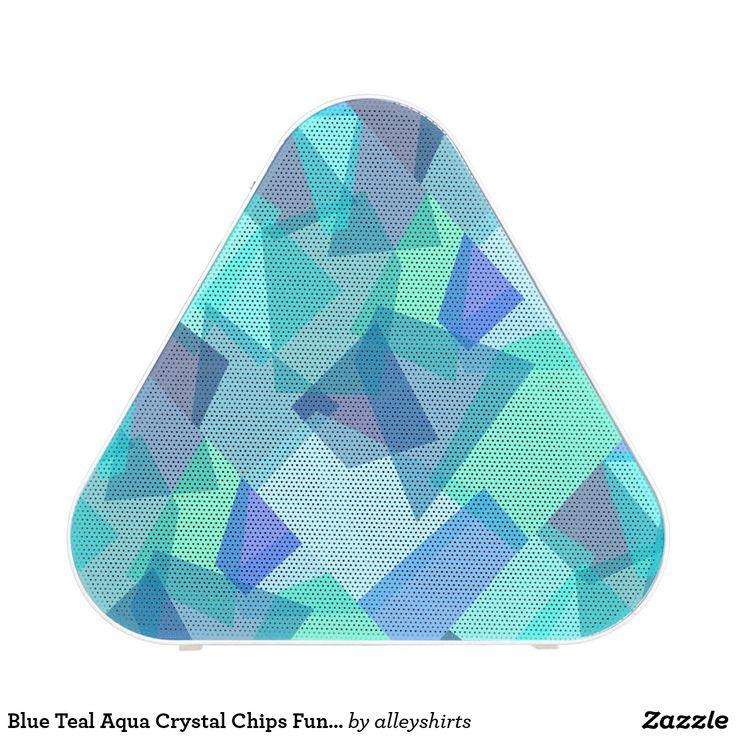 Blue Teal Aqua Crystal Chips Fun Modern Pattern Speaker. Música, music. Producto disponible en tienda Zazzle. Tecnología. Product available in Zazzle store. Technology. Regalos, Gifts. #bocinas #altavoces #speaker