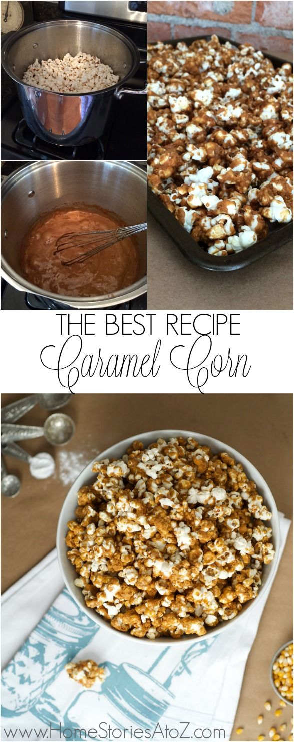 The best caramel corn recipe ever! It's amazing and addictive.
