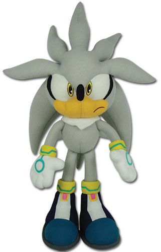 "Brand New Sonic The Hedgehog GE 8960 13"" Silver Sonic Plush Doll 