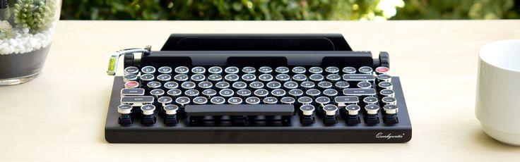Retro-Tastatur QWERKYWRITER  #Equipment #Nerdstuff #PC #QWERTYWRITER #retro #Tablet #Tastatur