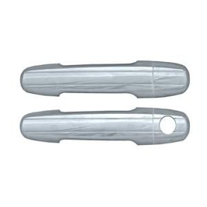 2002 Toyota Camry  Door Handle Cover:  Dimensions:	4.13x2.36x8.66  Discount Price:	$39.99	  Fits:	2002 Toyota Camry  2003 Toyota Camry  Finish:	Chrome  Part No:	DH68302A