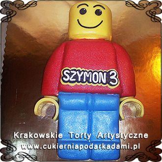 072. Tort z ludzikiem Lego. Lego cake.