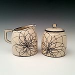Peony Sugar and Creamer Set by Whitney Smith (Ceramic Serving Pieces) | Artful Home