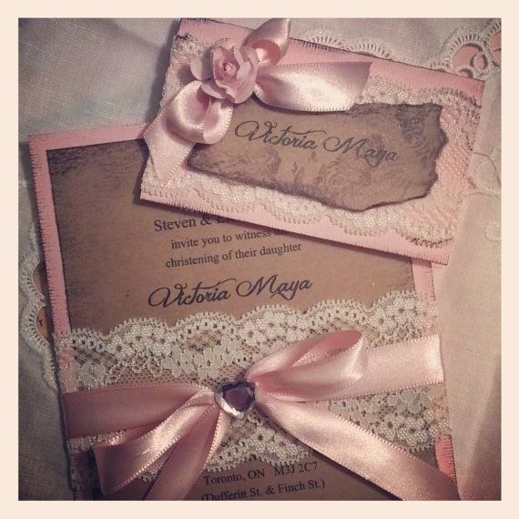 Hand made lace and satin baptism by MemoryMakersDesigns on Etsy, $5.50